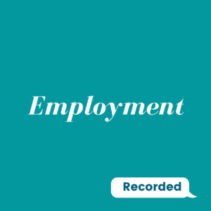 Recorded: Employment