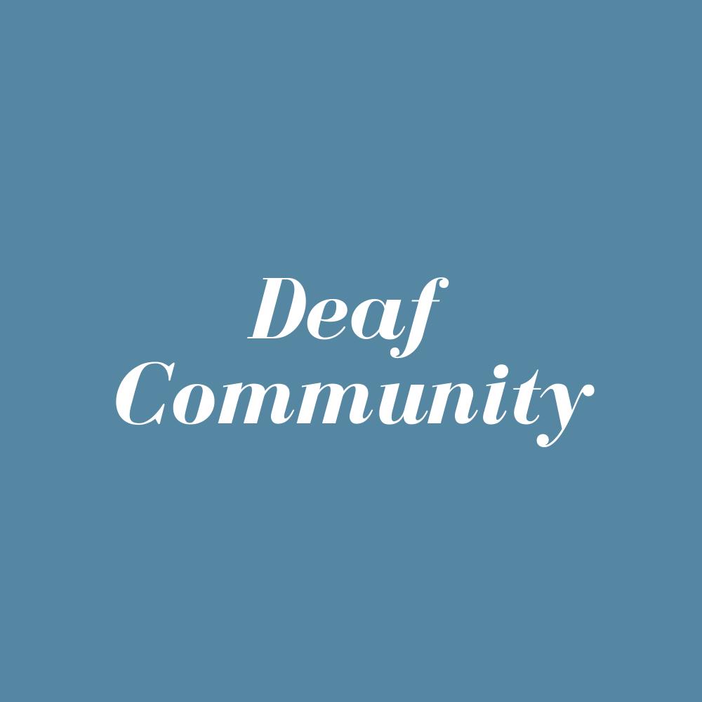 Deaf Community – Live
