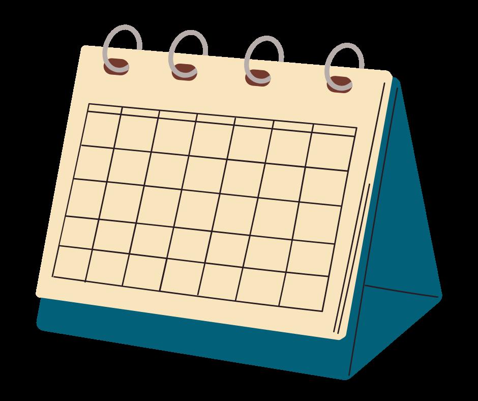 Graphic of calendar