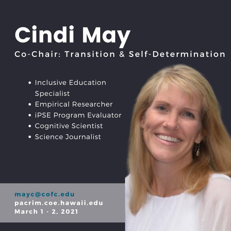 PHOTO of Cindi May and TEXT
