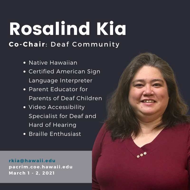 PHOTO of Rosalind Kia and TEXT