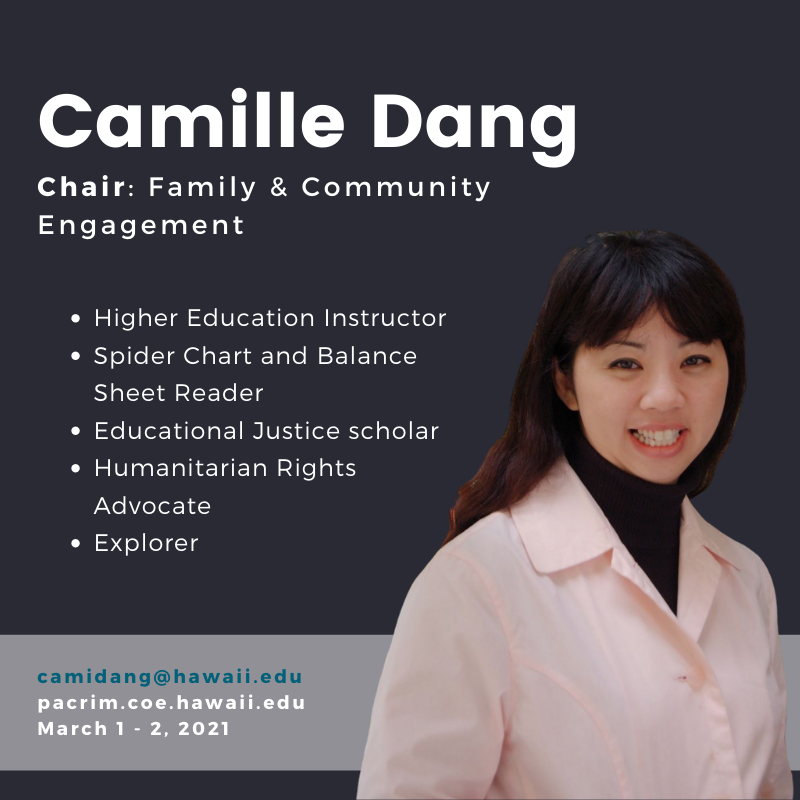 PHOTO of Camille Dang and TEXT