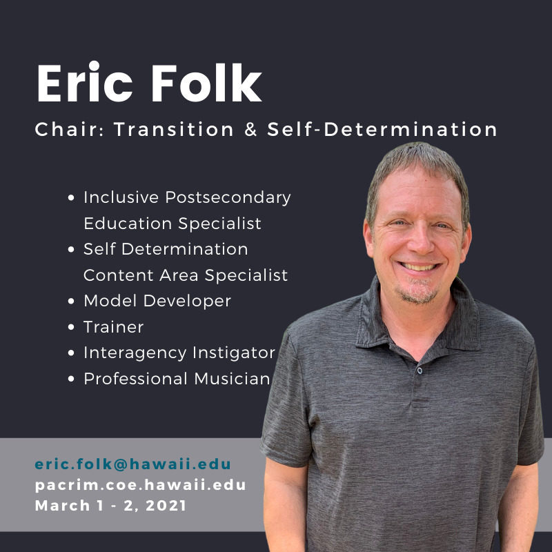 PHOTO of Eric Folk and TEXT