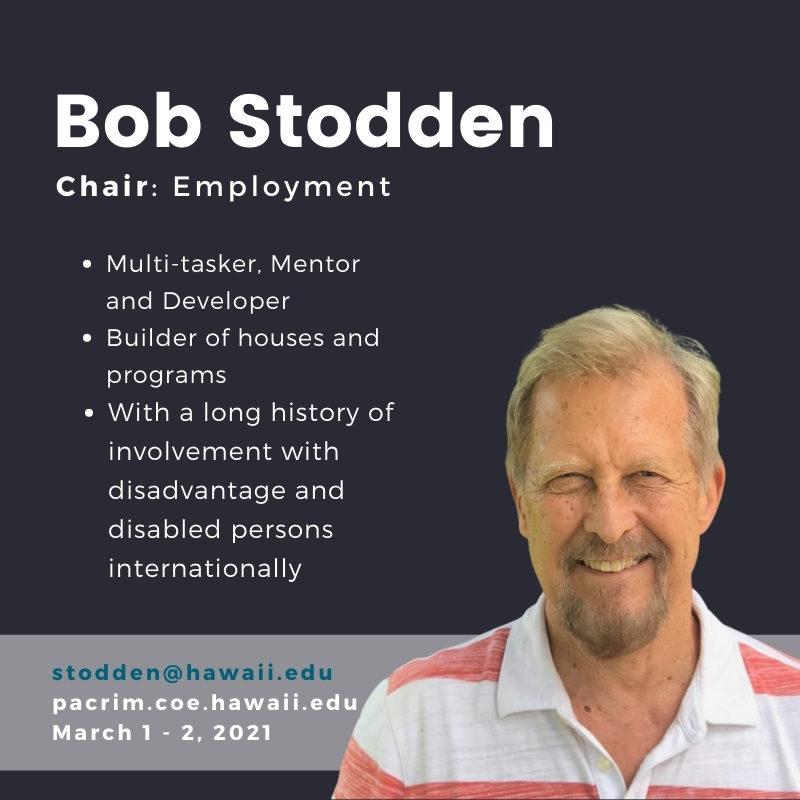 PHOTO of Bob Stodden. TEXT